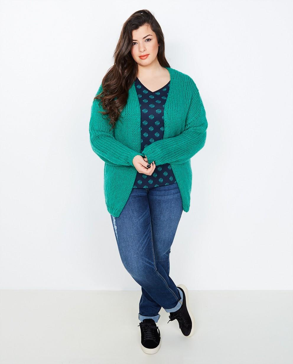 émeraude en Lena laine Gilet Lena luxueuse mélangée vert 1RPxCwqA